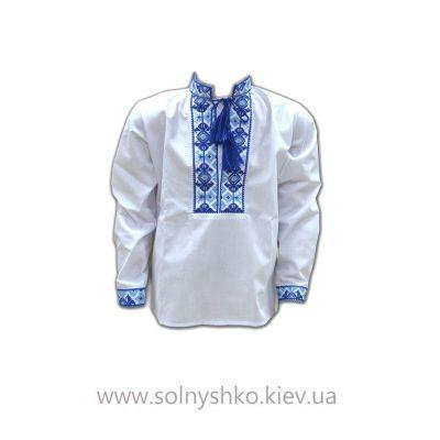 Сорочка Вышиванка для мальчика 314 cиняя
