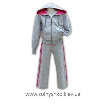 Брюки спортивные для девочки 1284 серые ТМ Джерси, Украина