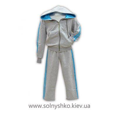 Спортивный костюм (куртка и брюки) К1299 серый ТМ Джерси, Украина