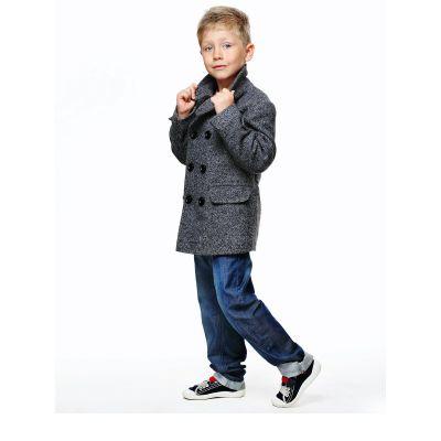 Пальто детское для мальчика D700 (Джинс)