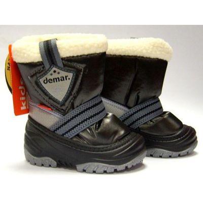 Cапоги зимние - дутики - сноубутсы для детей Demar Toby 4031 чёрные