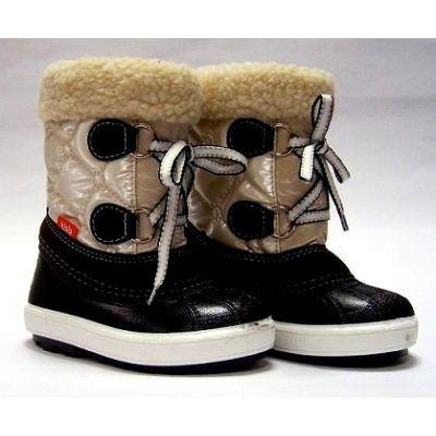 Сапоги зимние - сноубутсы - дутики детские Demar Furry 1500/1530 (перламутр)