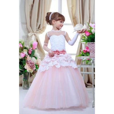Нарядное платье для девочки 7720 Элегия