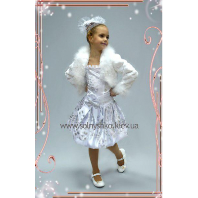Нарядное платье Машенька белое