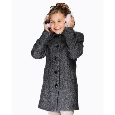 Пальто для девочки Д082 джинс