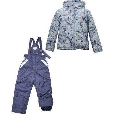 "Комплект осенний ""Softy"" куртка + темно-синий полукомбинезон 5501"