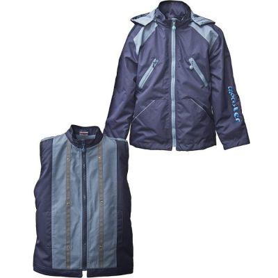 Комплект для мальчика арт.5201-2 Monster (куртка + жилет) темно-синий
