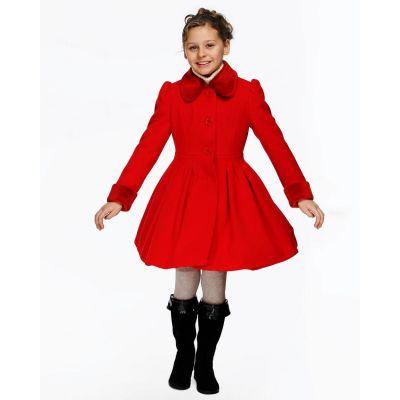 Пальто демисезонное для девочки Д079 красный