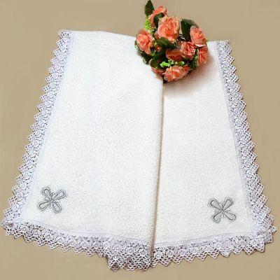 Махровая крыжма для крещения 9-0 серебро