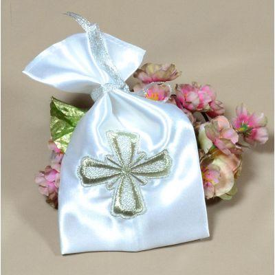 Мешочек для волос на крещение Серебро (под заказ)