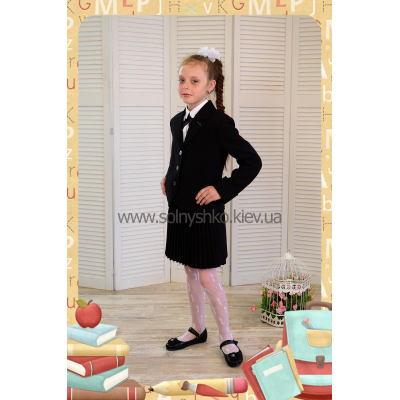 Костюм - тройка школьный для девочки Маргарет Lakshmi Mix чёрный