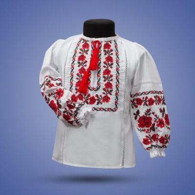 Блуза Вышиванка для девочки Намисто - 402 красная