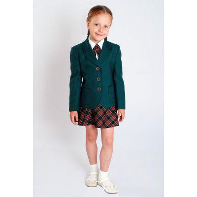 Жакет школьный для девочки Д-ШФ-7 зеленый