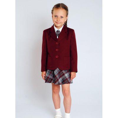 Жакет школьный для девочки Д-ШФ-7 бордо