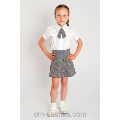 Юбка школьная для девочки 34-1646-1 шотландка
