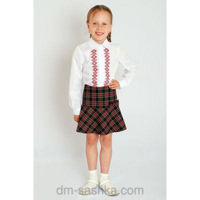 Юбка школьная для девочки 34-1646-2 шотландка