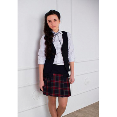Юбка школьная для девочки 4-1676 шотландка