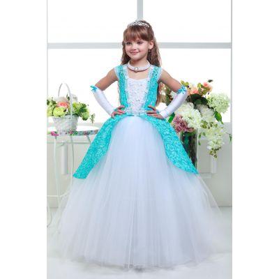 Нарядное платье для девочки 8711 белое