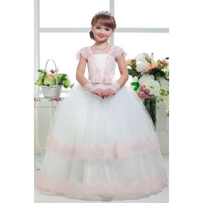 Нарядное платье для девочки 8702 айвори