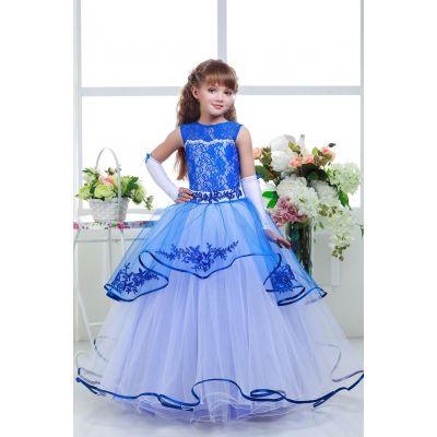 Нарядное платье для девочки 8728 белый