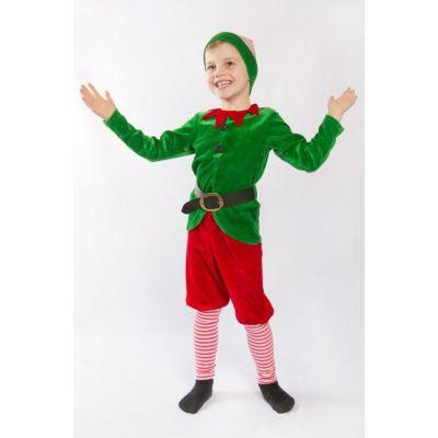Карнавальный костюм для мальчика Рождественский Эльф Гном №5