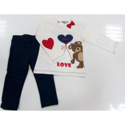 Комплект для девочки Love 246 (реглан и лосины) ТМ Wanex