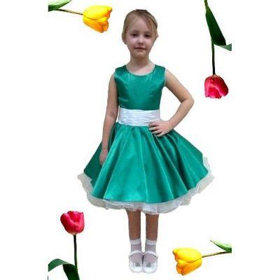 Нарядное платье для девочки Стиляги Изумруд