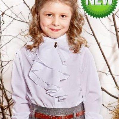 Блуза школьная для девочки Suzie Татин белая