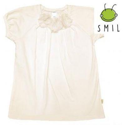 Блуза школьная короткий рукав 114423 / 114424 SMIL молочный