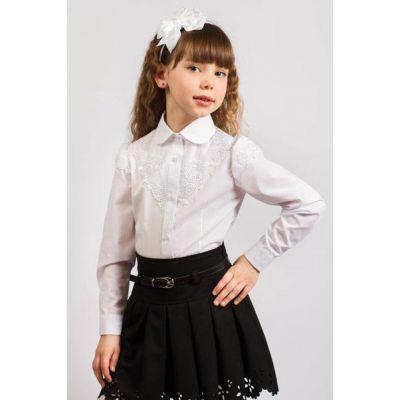 Блуза школьная для девочки 122 ТМ Малена