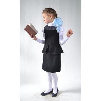 Сарафан школьный Лилия черный