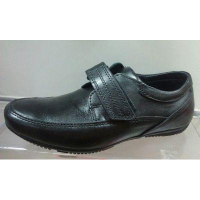 Туфли кожаные для мальчика 10107 черные ТМ Maxus