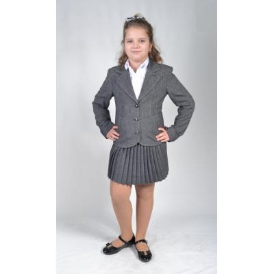 Костюм - двойка школьный для девочки Маргарет Lakshmi Mix серый