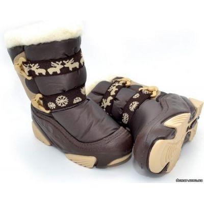 Сапоги зимние - сноубутсы - дутики Demar NOBI 4020в коричневые