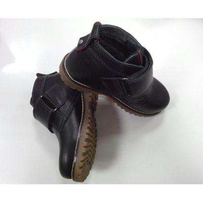 Ботинки НФ чёрные липучка ТМ MAXUS