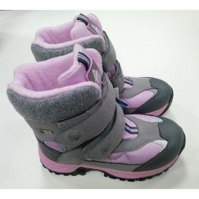 Зимние ботинки - Термо ботинки для девочки B&G R171-6026 серые