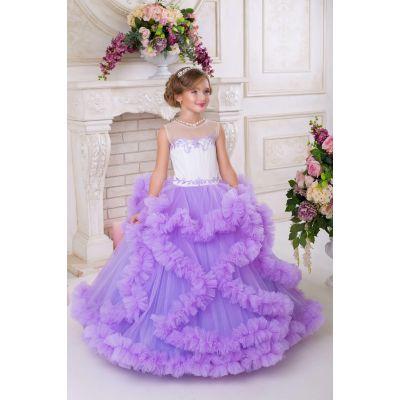 Нарядное платье - облако для девочки 9734