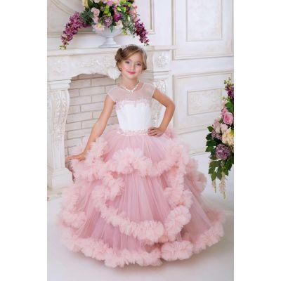 Нарядное платье - облако для девочки 9735