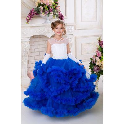Нарядное платье - облако для девочки 9736