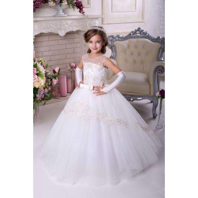 Нарядное бальное платье для девочки 9717 айвори