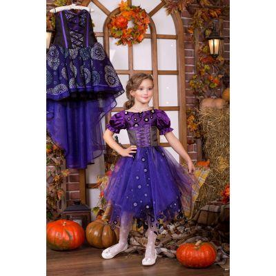 Карнавальный костюм для девочки Ведьма - Ведьмочка 9700