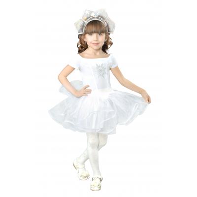 Карнавальный костюм для девочки Снежинка 9149