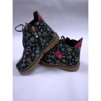 Ботинки демисезонные для девочки JORDAN 0209 Цветы
