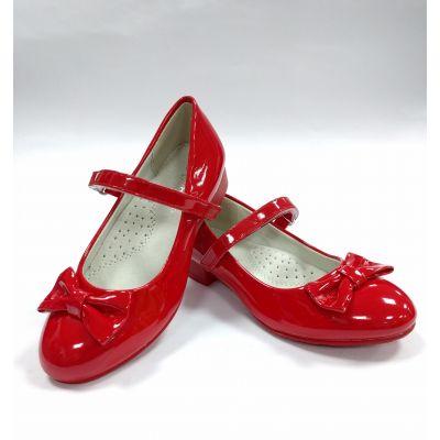 Туфли нарядные для девочки D508 красные