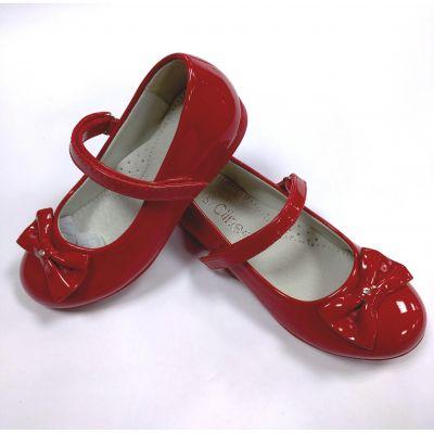 Туфли нарядные для девочки D522 красные ТМ Clibee