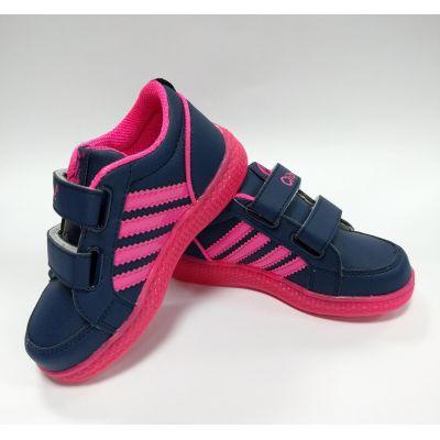 Кроссовки F620 светящиеся сине-розовые ТМ Clibee