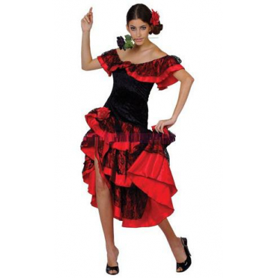Карнавальный костюм - платье для девочки Испанка стиль