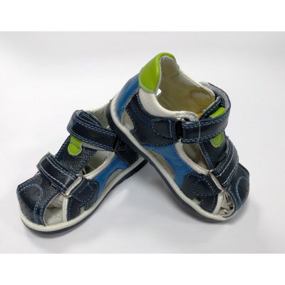 Босоножки для мальчика F176 синие ТМ Clibee