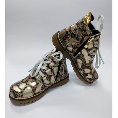 Ботинки для девочки арт.0209 золото