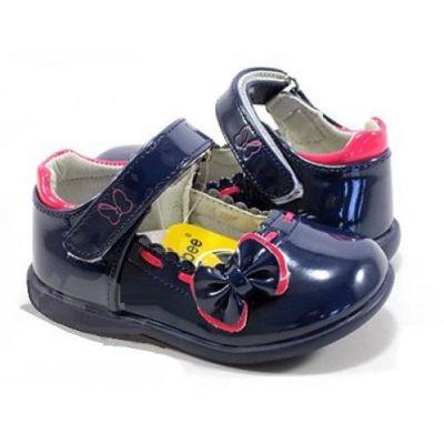 Туфли для девочки D501 лаковые синие